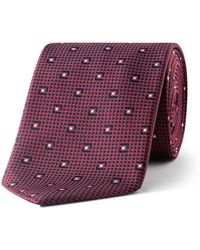 BOSS - 7cm Mini Diamond Neat Silk Tie - Lyst