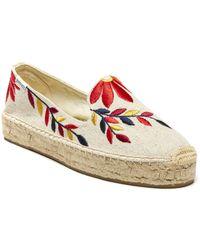 Soludos - Embroidered Floral Platform - Lyst