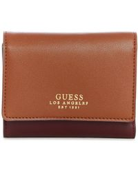 Guess - Ella Small Trifold Wallet - Lyst