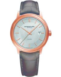 Raymond Weil - Maestro, 39.5mm, Auto, Rose Pvd, Index, Leather - Lyst