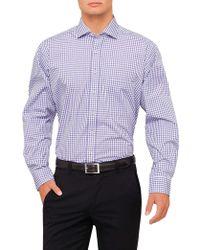Geoffrey Beene - Gallaudet Check Stretch Collar Regular Fit Shirt - Lyst