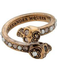 Alexander McQueen   Jew.twin Skull Ring   Lyst