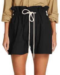 Bassike - Canvas Paper Bag Relaxed Short - Lyst
