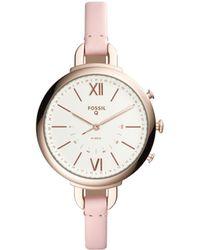 Fossil - Q Annette Pink Hybrid Smartwatch - Lyst