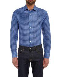 Chester Barrie - Linen Check Shirt - Lyst