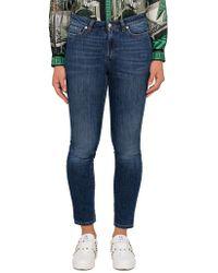 Versace - Cropped Skinny Jean Pocket Detail - Lyst