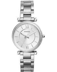Fossil - Carlie Silver Watch - Lyst