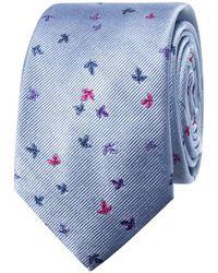 Geoffrey Beene - Ditsy Leaf Tie - Lyst