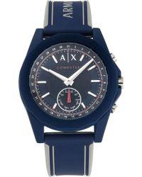 Armani Exchange - Drexler Blue Hybrid Smartwatch - Lyst