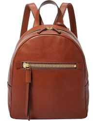 Fossil - Megan Backpack Brown - Lyst