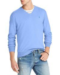 Polo Ralph Lauren - Mens Cotton V-neck Jumper - Lyst