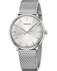 Calvin Klein - Ck High Noon Polished Ss Case Silver Dial 40mm - Lyst