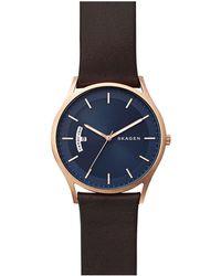 Skagen - Holst Leather Watch - Lyst