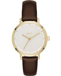DKNY - The Modernist Brown Watch - Lyst