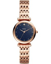 Fossil - Carlie Rose Gold-tone Watch - Lyst
