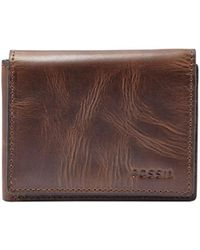 Fossil - Derrick Leather Executive Wallet - Lyst