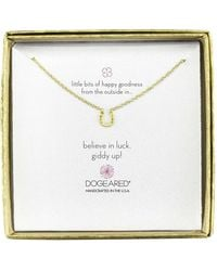 Dogeared - Mini Horseshoe Little Bits Of Happy Boxed Reminder Necklace - Lyst