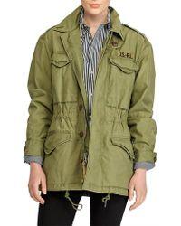 Polo Ralph Lauren - Reverse Ctn Twill-mltry Cmbt-cotton-coat - Lyst