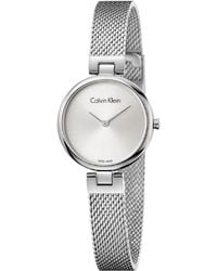 CALVIN KLEIN 205W39NYC - Authentic Mesh Watch - Stainless Steel - Lyst