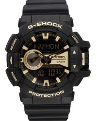 G-Shock - Duo Rotary Blk/gold Resin - Lyst