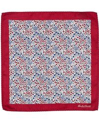Hardy Amies - Red Floral Pocket Square - Lyst