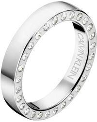 Calvin Klein - Hook Ring With Swarovski Crystals - Lyst