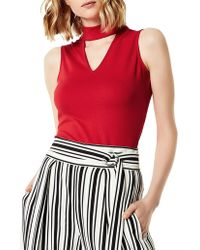 Karen Millen - High Neck Tank Top - Lyst