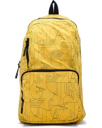 137398034952 Armani Jeans - Printed Nylon Packable Backpack - Lyst