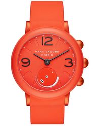 Marc By Marc Jacobs - Riley Pink Hybrid Smartwatch - Lyst
