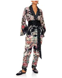 Camilla - Nights With Her Kimono Sleeve Jumpsuit Wth Piping - Lyst