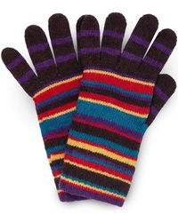 Paul Smith - Multistripe Knitted Gloves - Lyst
