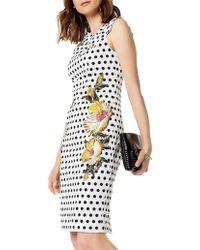 Karen Millen - Polka Dot Pencil Dress - Lyst