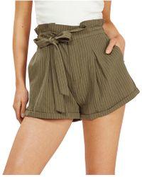 MINKPINK - Rae Paperbag Shorts - Lyst