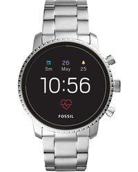 Fossil - Q Explorist Silver-tone Smartwatch - Lyst
