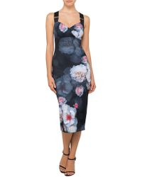 Ted Baker - Teeki Chelsea Print Bodycon Dress - Lyst
