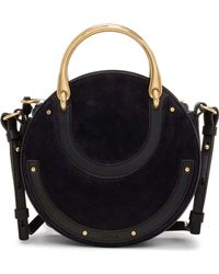 Chloé | Pixie Small Double Handle Bag Suede & Smooth Calfskin | Lyst