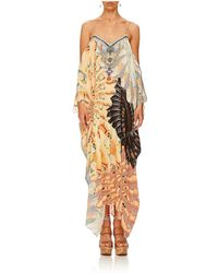 Camilla - For The Fans Shoestring Strap Kaftan - Lyst