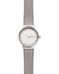 Skagen - Freja 2 Tone Watch - Lyst