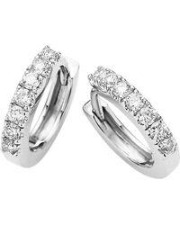 Jan Logan - 18ct White Gold Diamond Cuff Earrings - Lyst