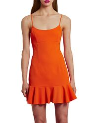 BY JOHNNY. - Petal Flip Mini Dress - Lyst