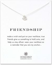 Dogeared - Sterling Silver Friendship Anchor Necklace - Lyst