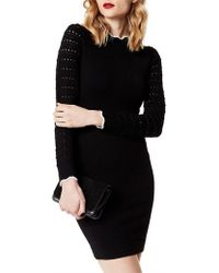 Karen Millen - Fitted Knit Dress - Lyst