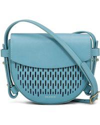 Skagen - Lobelle Mini Saddle Bag Crossbody Leather - Lyst