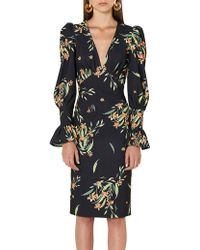 BY JOHNNY. - Black Jungle Tulip Sleeve Dress - Lyst