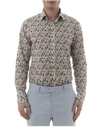 Simon Carter - Liberty Reef Print Single Cuff Shirt - Lyst