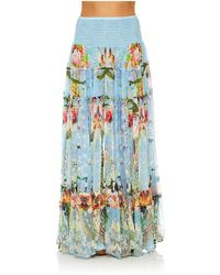 Camilla - The Still Abyss 4 Tiered Gathered Skirt - Lyst
