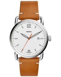 Fossil - The Commuter Light Brown Watch - Lyst