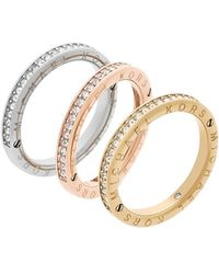 Michael Kors - Iconic Stainless Steel Multi-tone Ring - Lyst