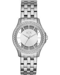 Armani Exchange - Lady Hampton Silver Watch - Lyst
