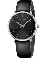 Calvin Klein - Ck High Noon Polished Stainless Steel Case Black Dial 40mm - Lyst